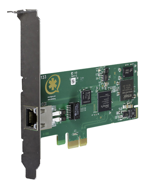 One span digital T1/E1/J1/PRI PCI-Express x1 card