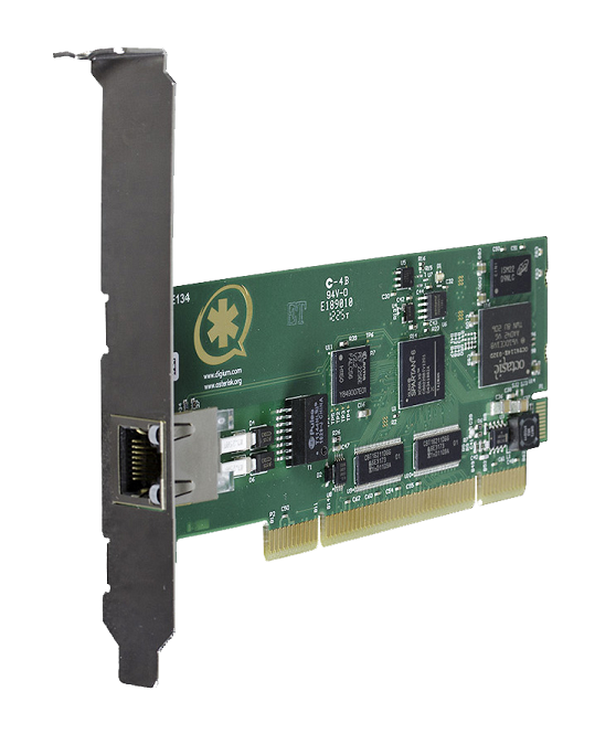 One span digital T1/E1/J1/PRI PCI card